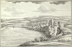 A view of Chepstow town and Castle Gloucester
